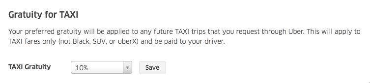 Как оставить чаевые в Uber