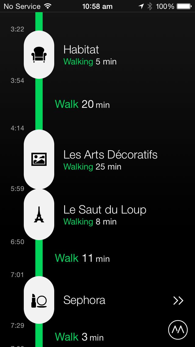 Moves app как способ ведения травелога