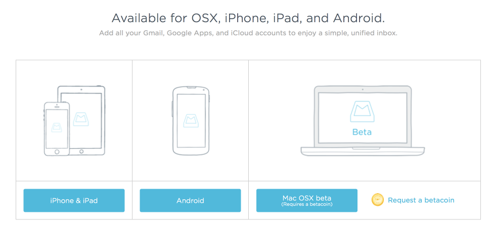 Mailbox App доступен для iPhone, iPad, Android и Mac OS X