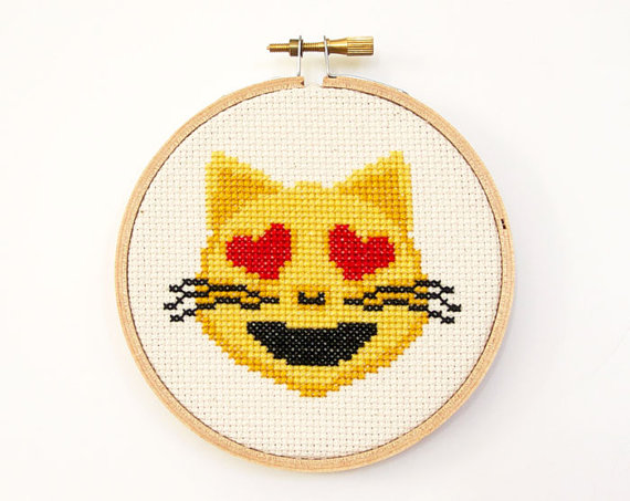 Emoji cross stitch