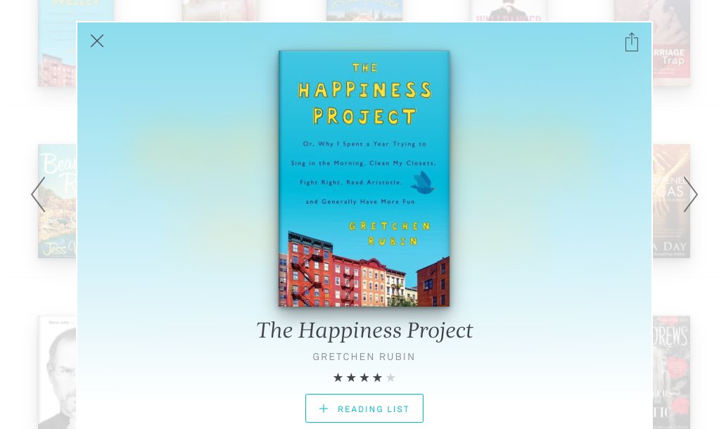 The Happiness Project on Oyster Books